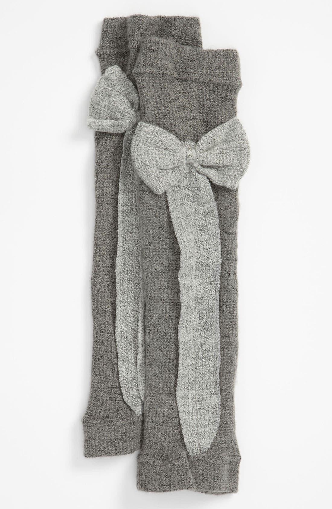 Main Image - Nordstrom 'Ribbon Bow' Leg Warmers (Girls)