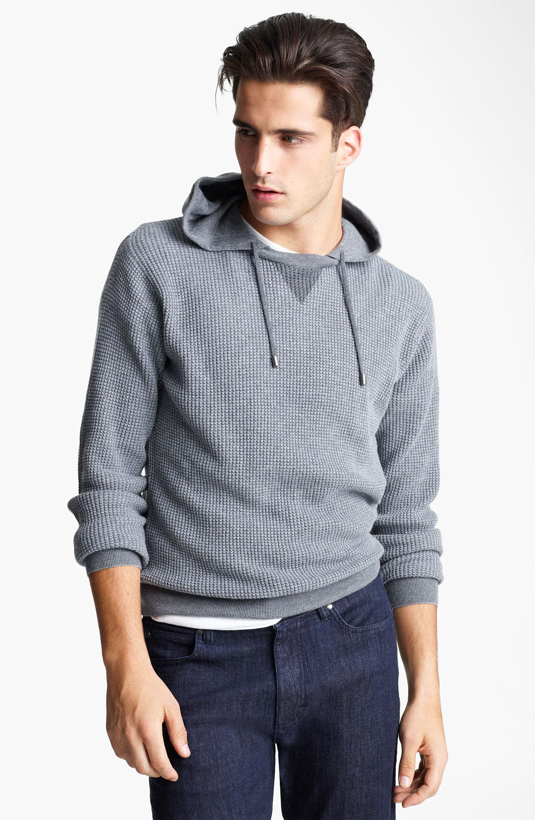 Main Image - Zegna Sport Waffled Cashmere & Cotton Hoodie