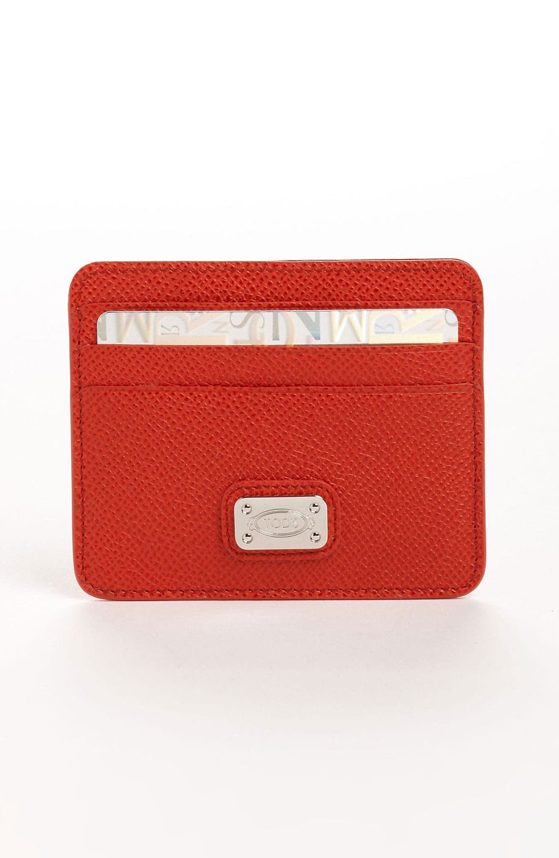 Alternate Image 1 Selected - Tod's Leather Credit Card Case