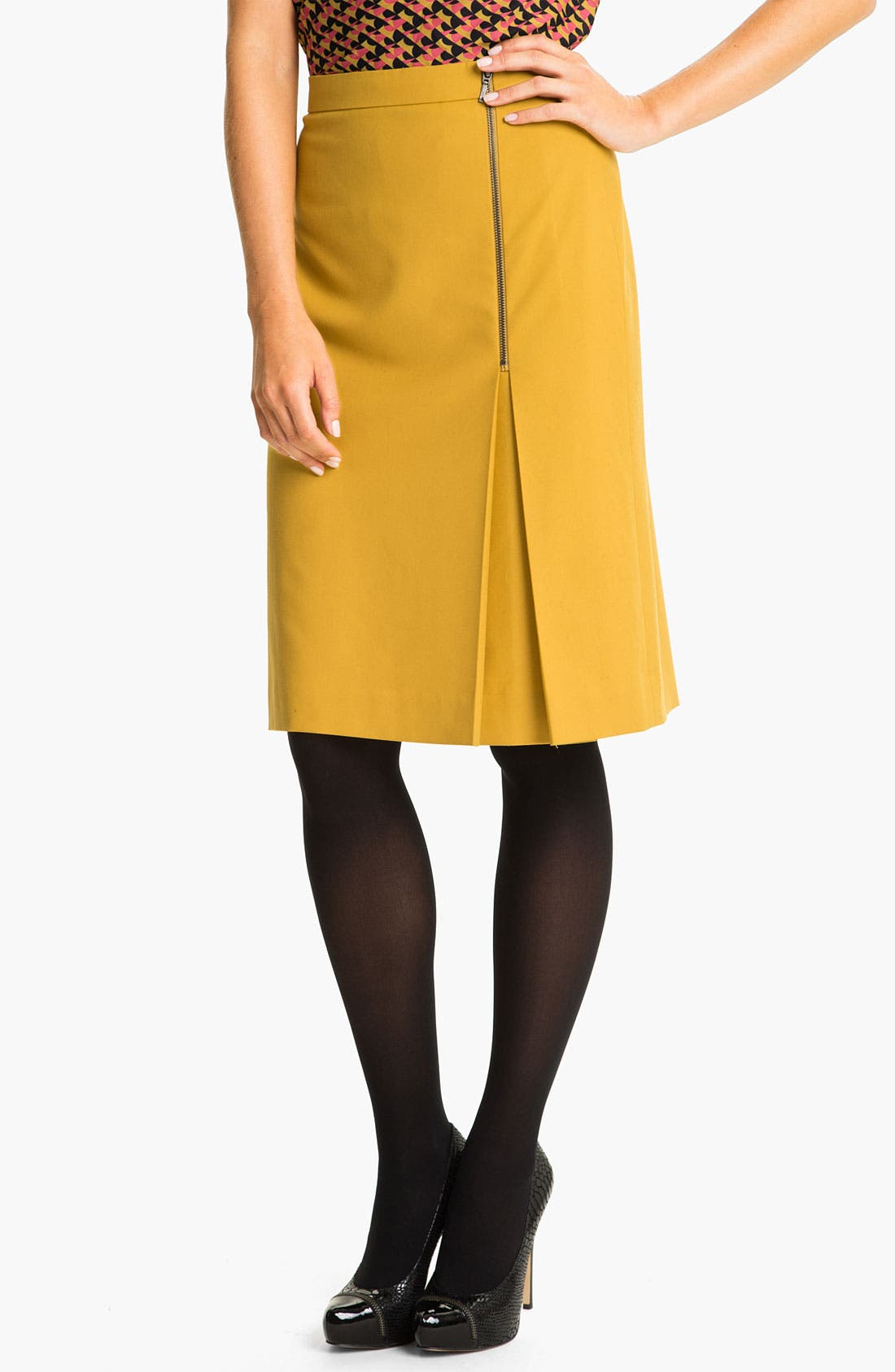Alternate Image 1 Selected - Classiques Entier® 'Notion Weave' Zip Skirt