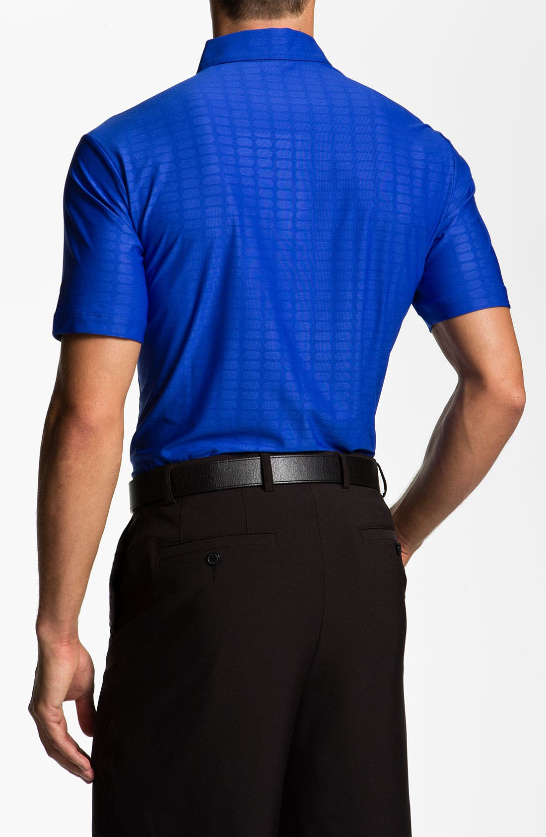 Alternate Image 2  - Nike Golf Bonded Embossed Dri-FIT Polo