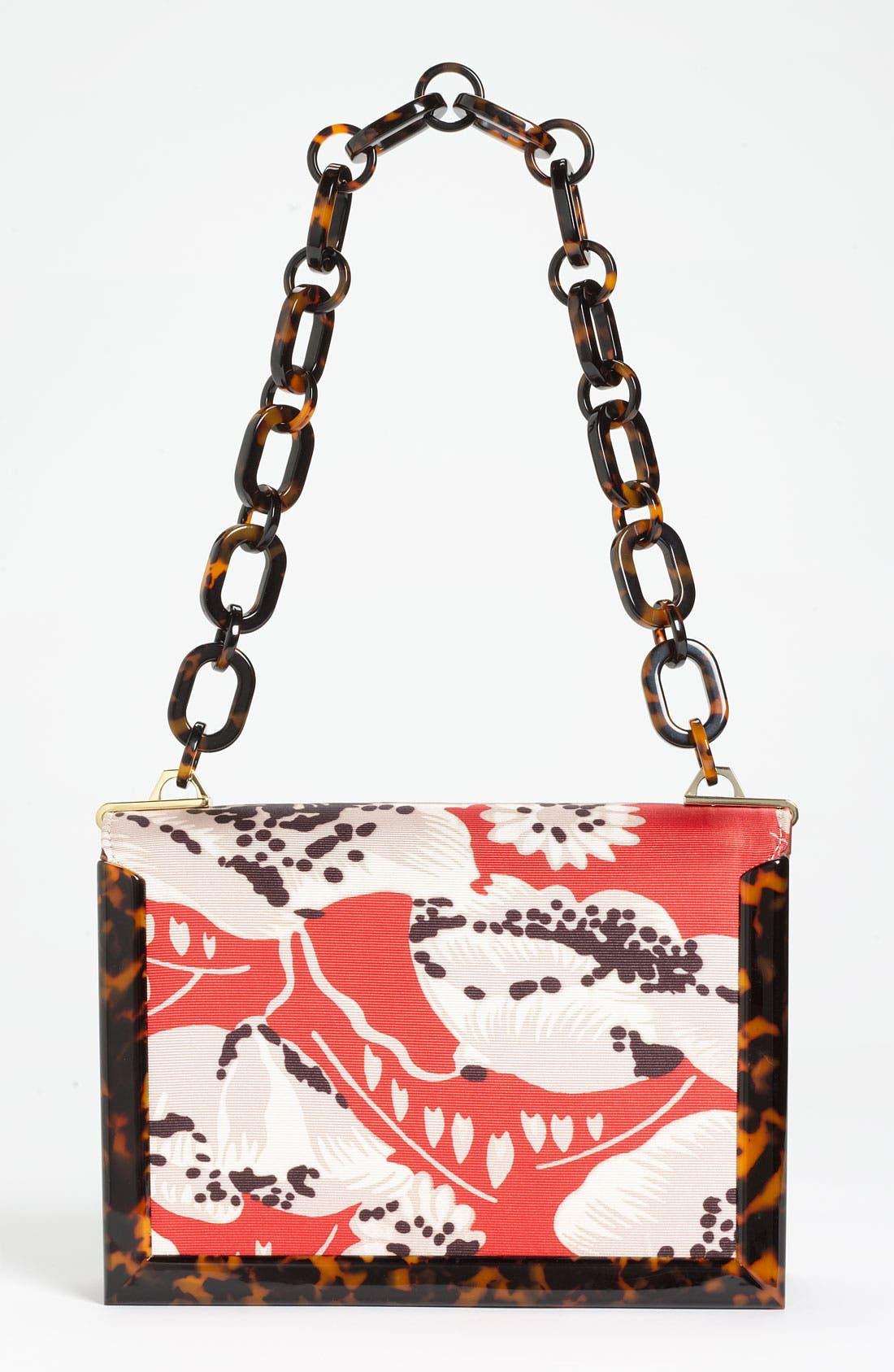Alternate Image 4  - Tory Burch Print Faille & Resin Frame Shoulder Bag