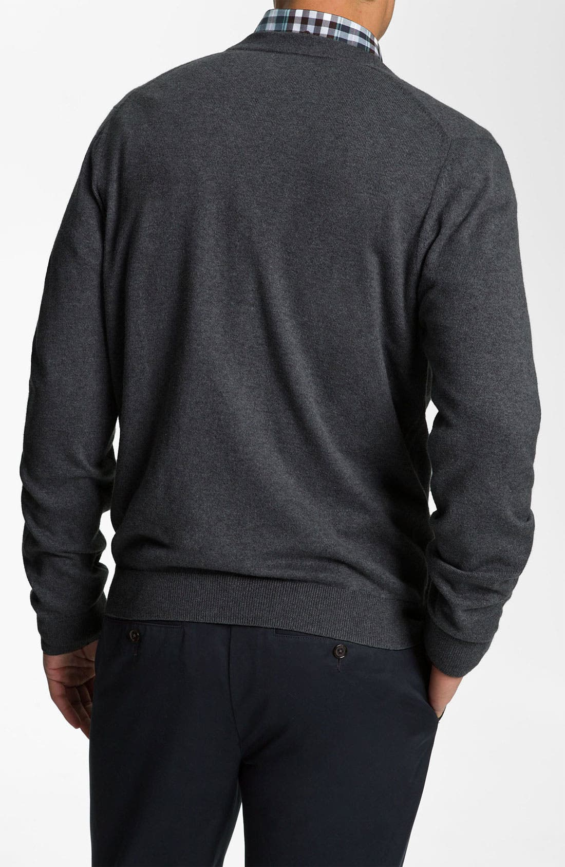 Alternate Image 2  - Nordstrom Cotton & Cashmere Cardigan
