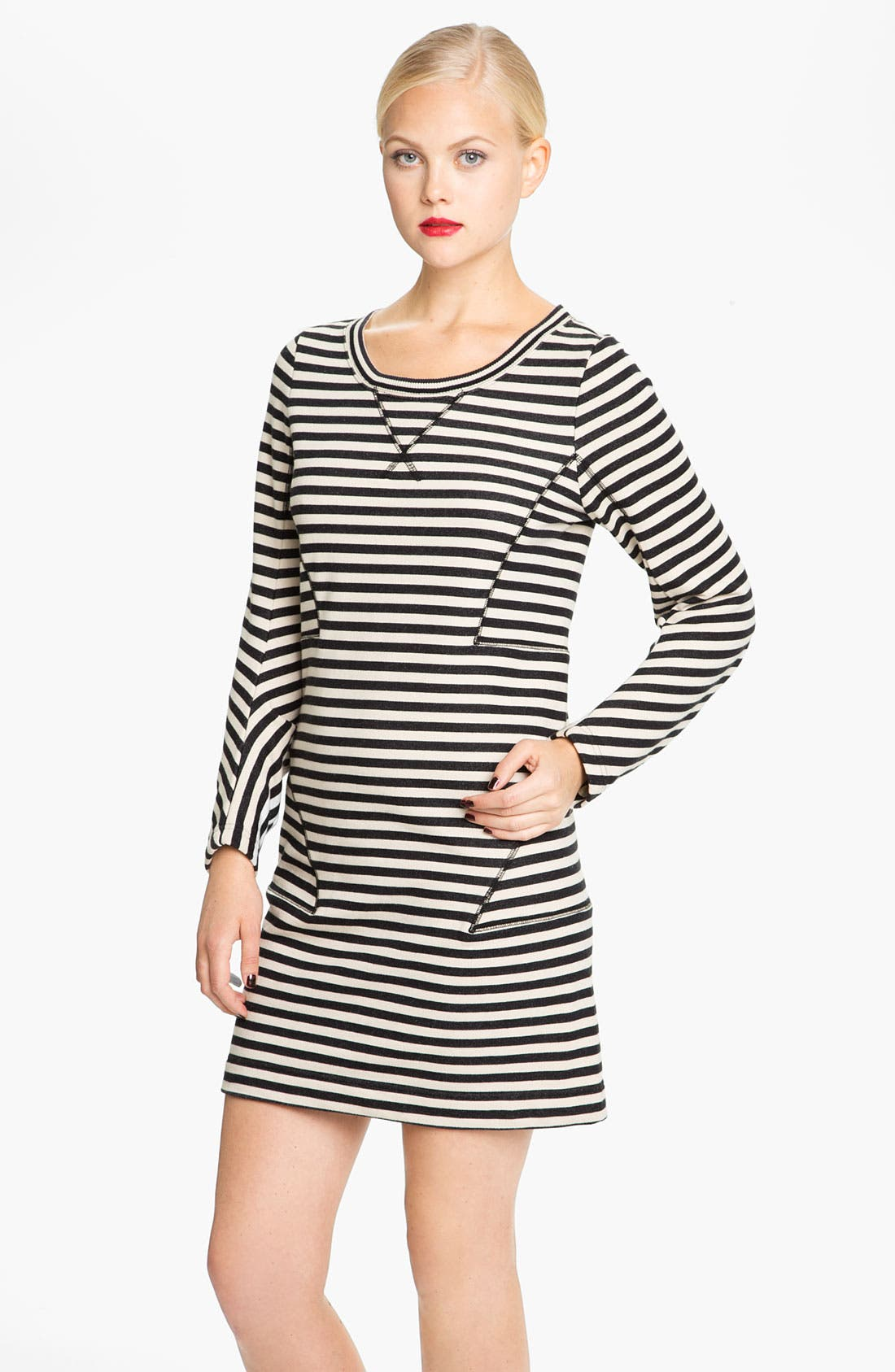Main Image - MARC BY MARC JACOBS 'Ben' Stripe Sweatshirt Dress