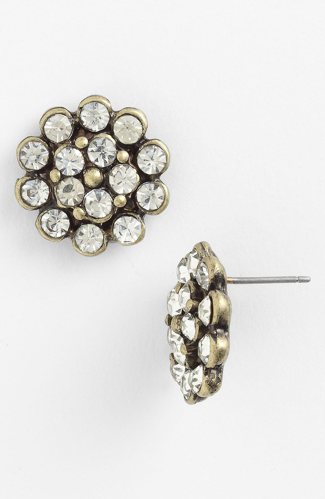 Main Image - Carole Rhinestone Flower Stud Earrings