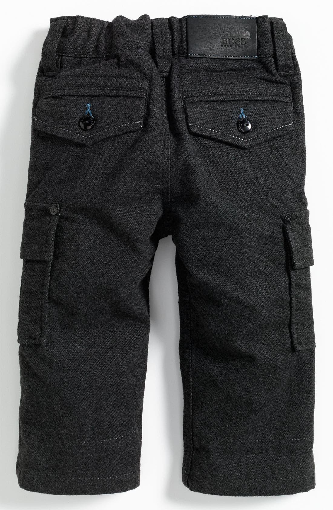 Main Image - BOSS Kidswear Sueded Cargo Pants (Infant)