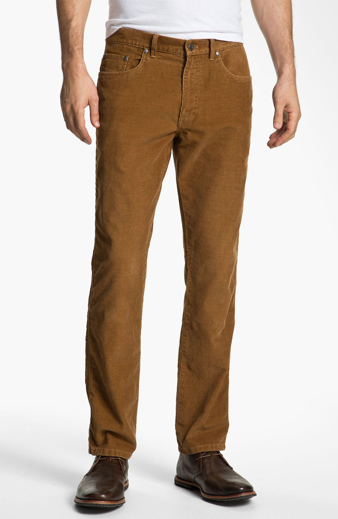 Main Image - Brooks Brothers Slim Fit Corduroy Pants