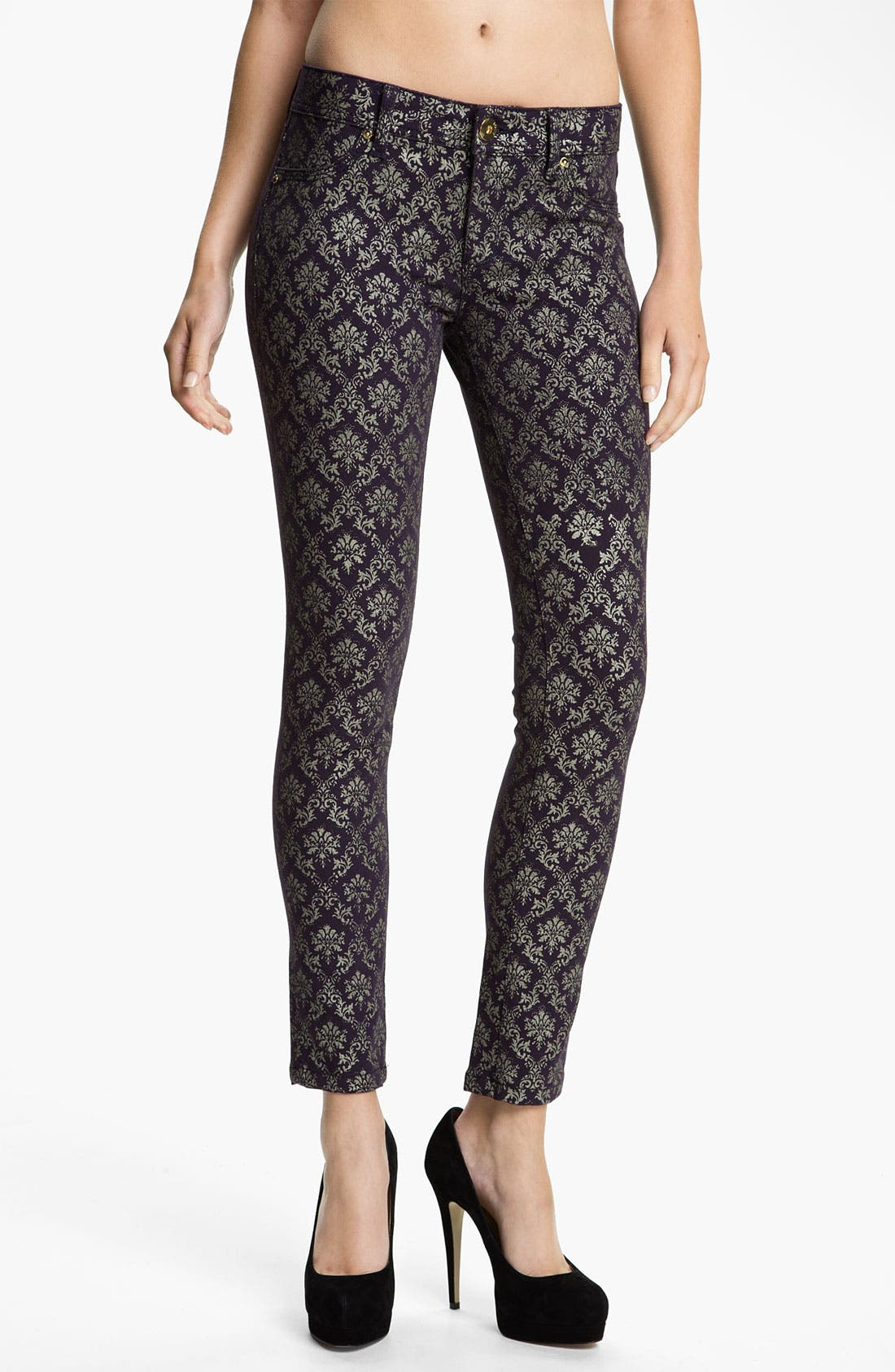 Main Image - DL1961 'Emma' Skinny Jeans (Ornate)