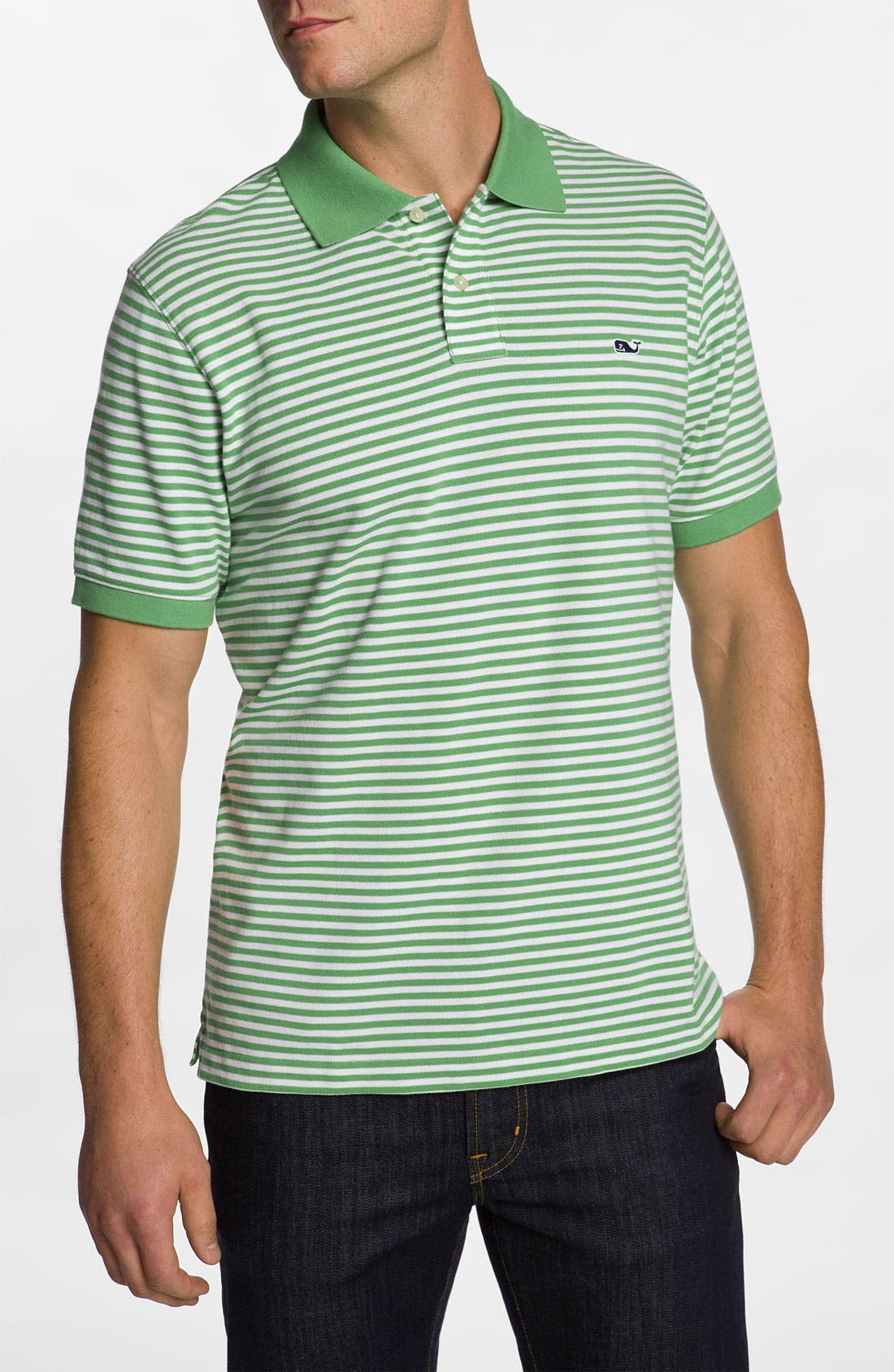 Alternate Image 1 Selected - Vineyard Vines 'State Line Stripe - Classic' Piqué Knit Polo