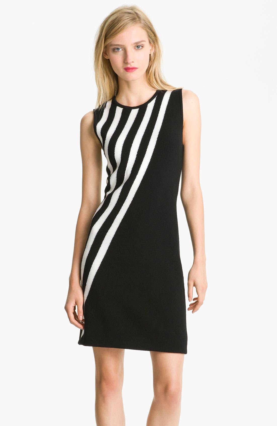 Alternate Image 1 Selected - Milly Stripe Merino Wool Shift Dress