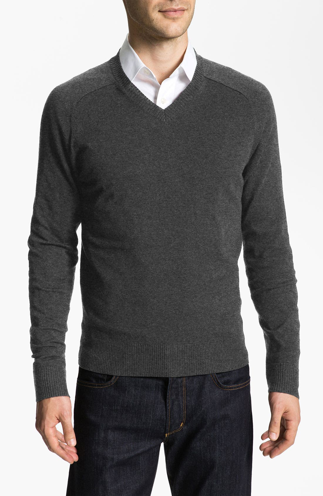 Alternate Image 1 Selected - Calibrate V-Neck Cotton & Cashmere Blend Sweater