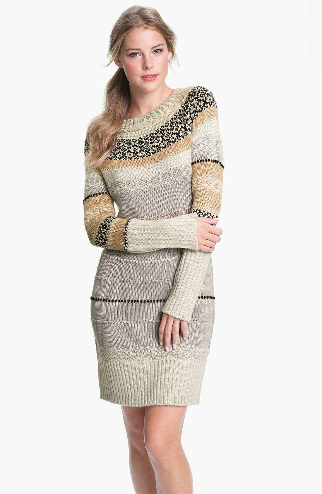 Alternate Image 1 Selected - Jessica Simpson Ribbed Trim Sweater Dress