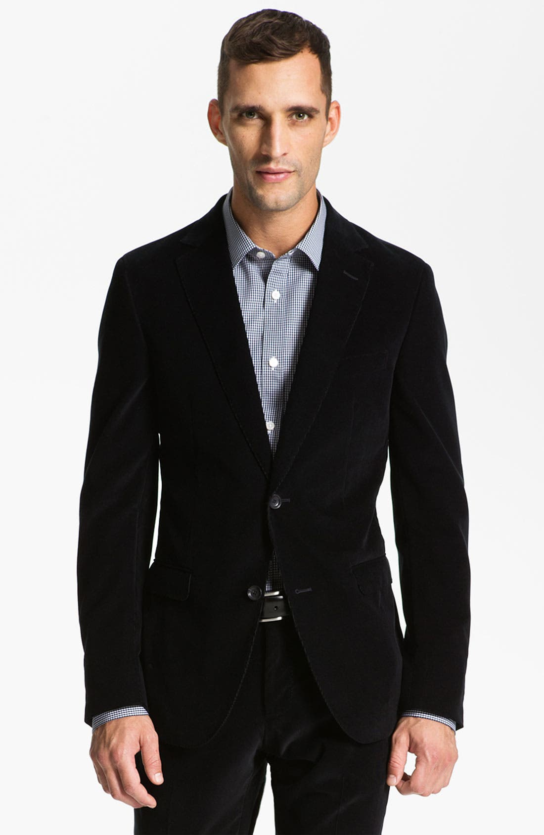 Alternate Image 1 Selected - Z Zegna Extra Trim Fit Corduroy Suit