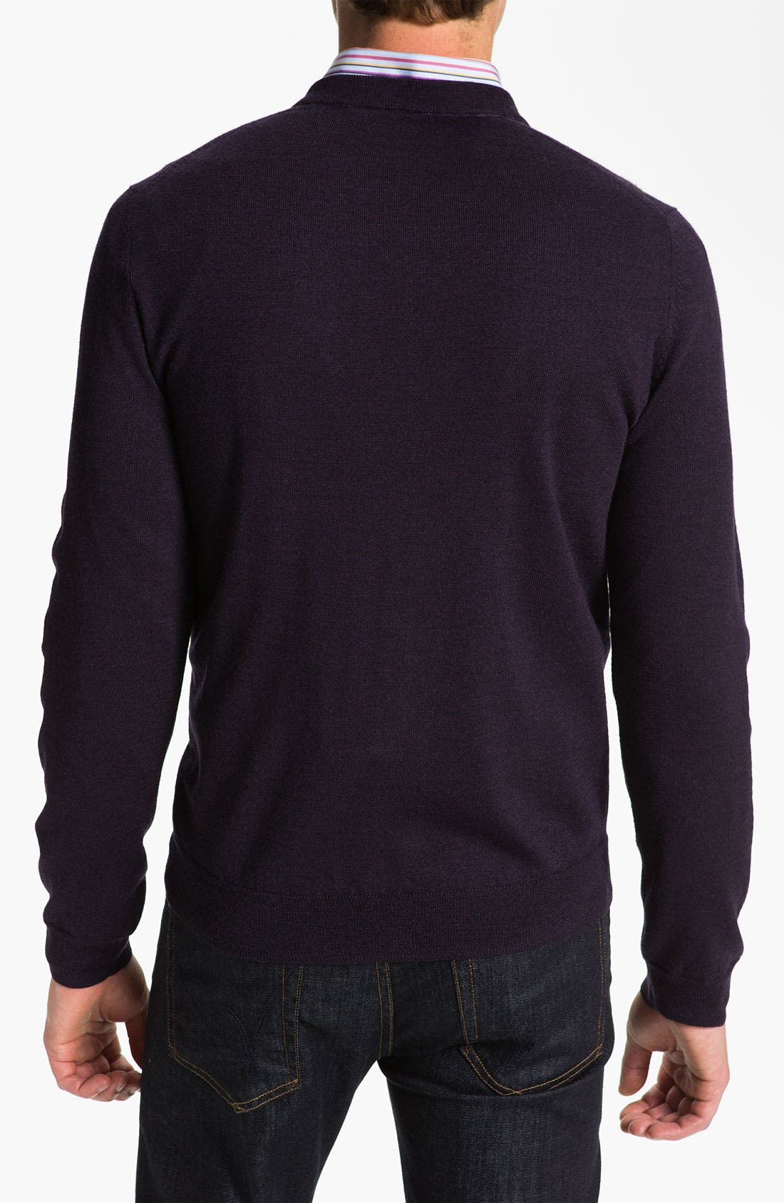 Alternate Image 2  - Nordstrom 'Raker' V-Neck Merino Wool Sweater