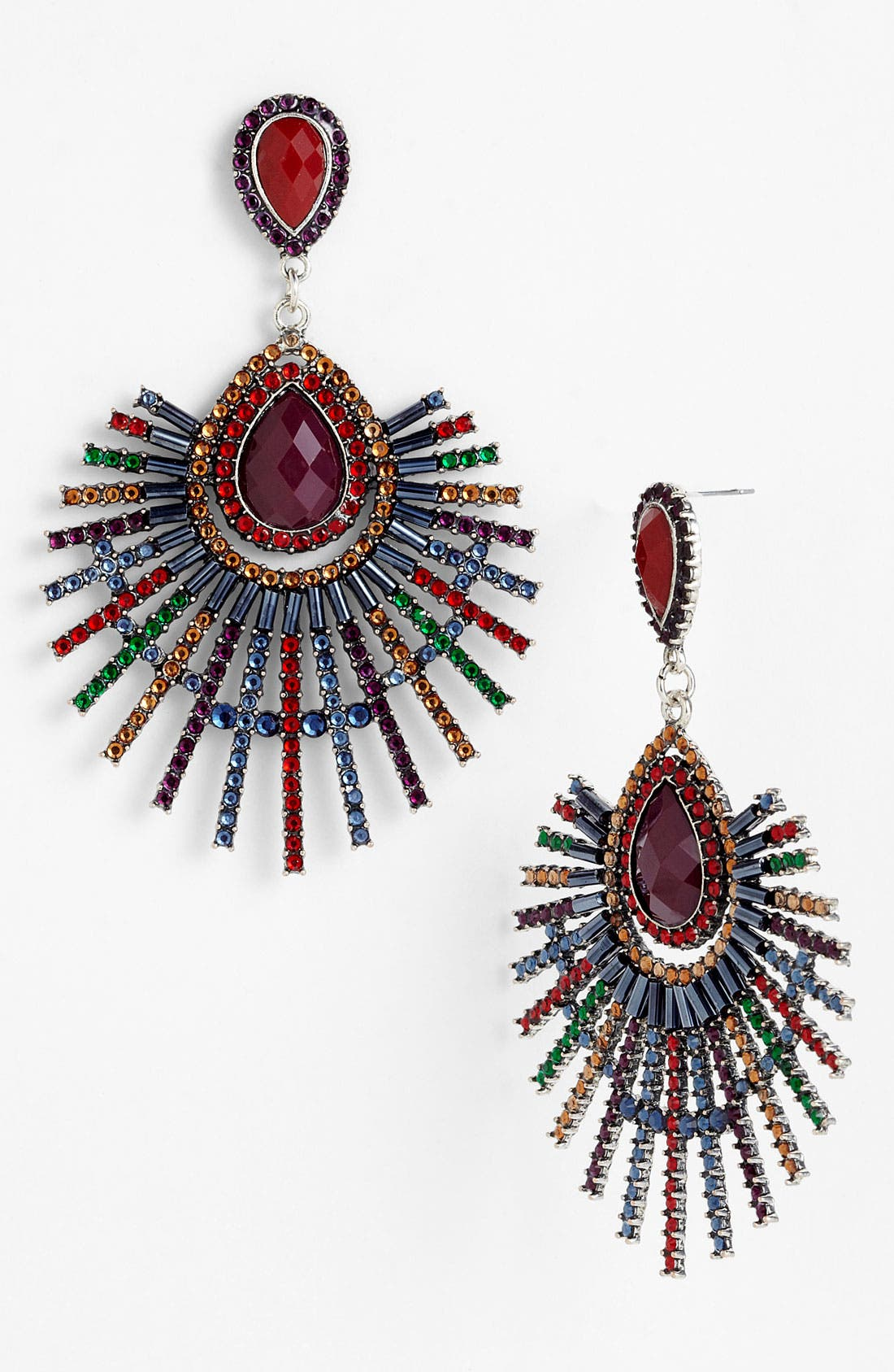Alternate Image 1 Selected - Guinevere Large Crystal Drop Earrings