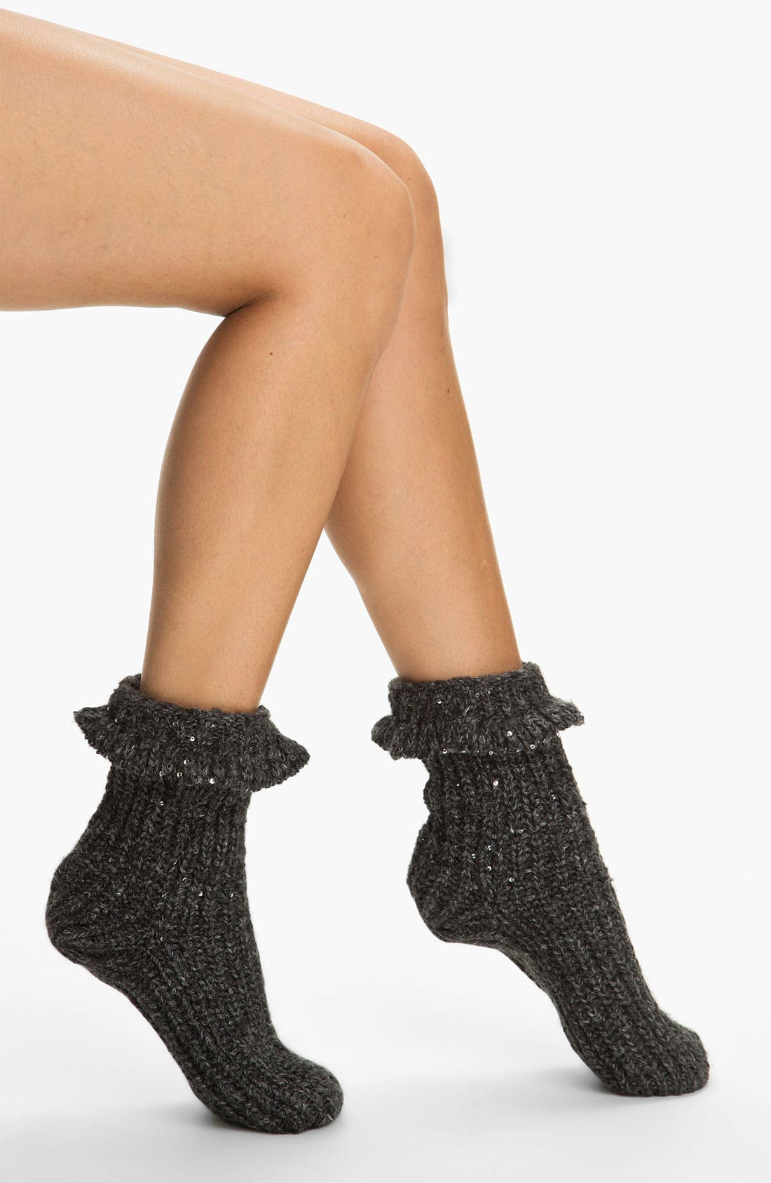 Alternate Image 1 Selected - Nordstrom 'Sparkle' Slipper Socks