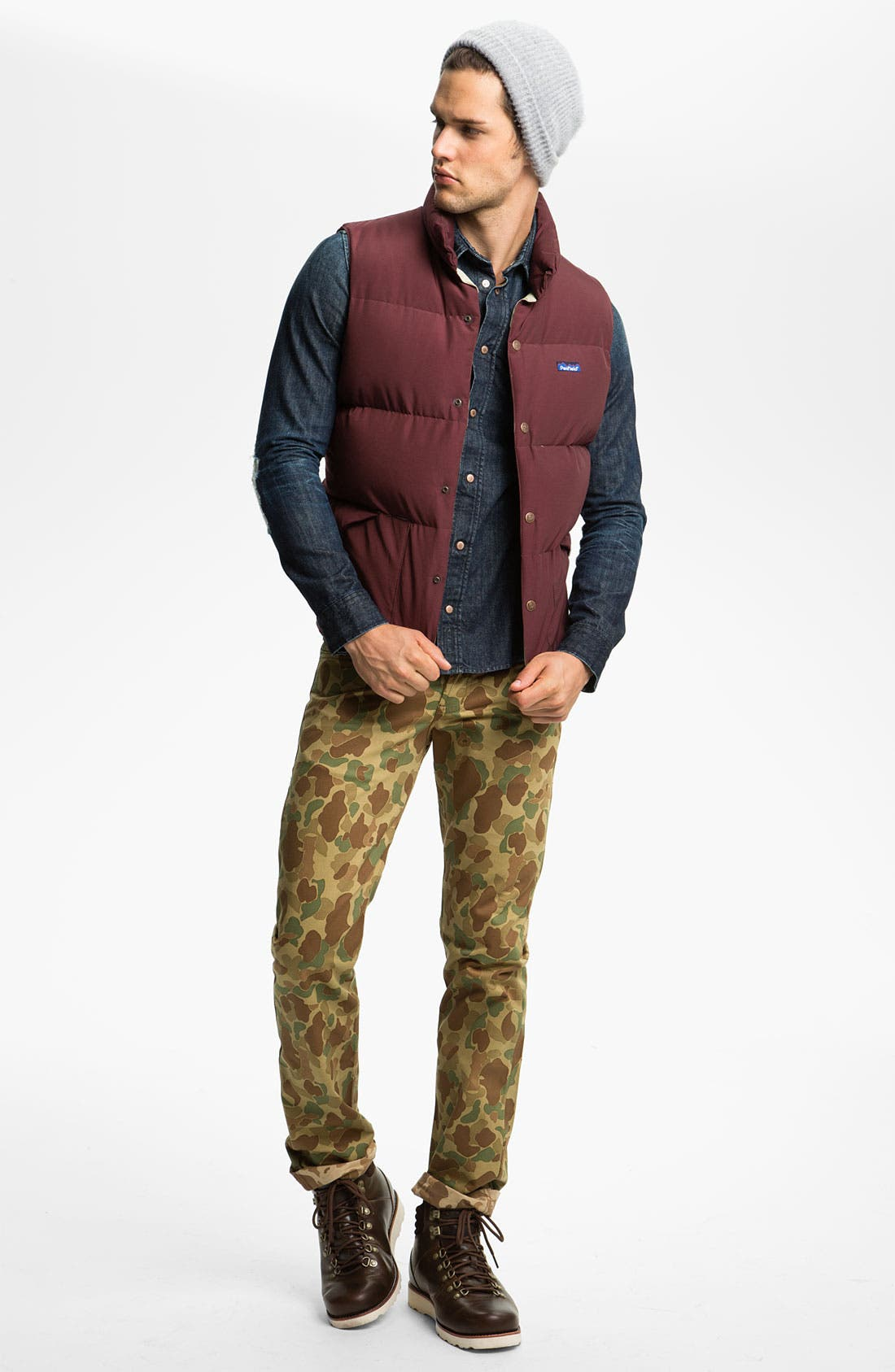 Alternate Image 4  - Naked & Famous Denim 'Weird Guy' Dual Camo Print Slim Tapered Leg Pants