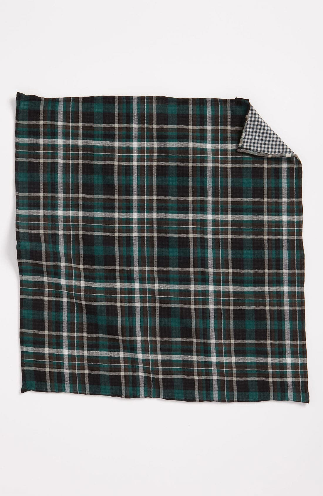 Alternate Image 3  - The Tie Bar Plaid Cotton Flannel Pocket Square