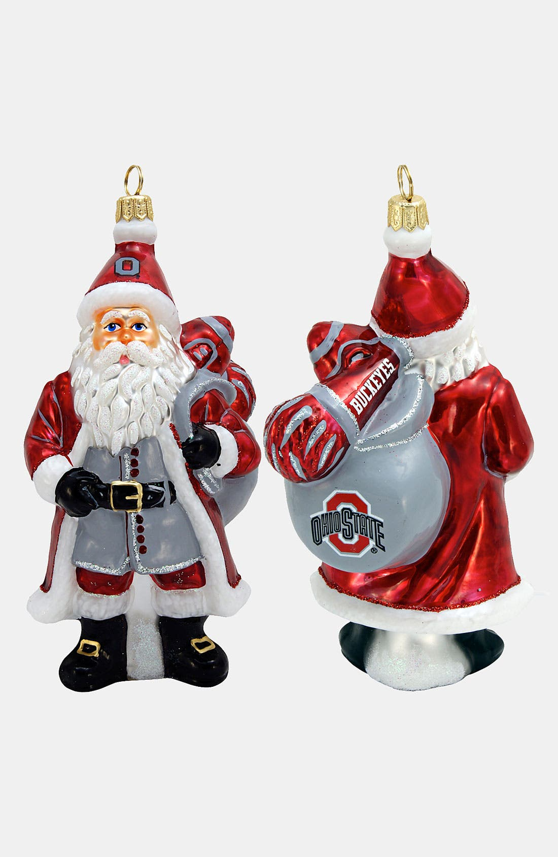 Alternate Image 1 Selected - Joy to the World Collectibles 'Ohio State Buckeyes Santa' Ornament