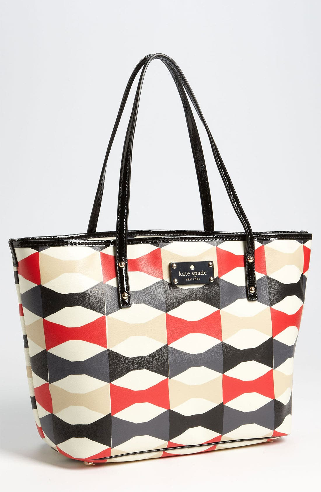 Main Image - kate spade new york 'abstract signature bow harmony - small' tote