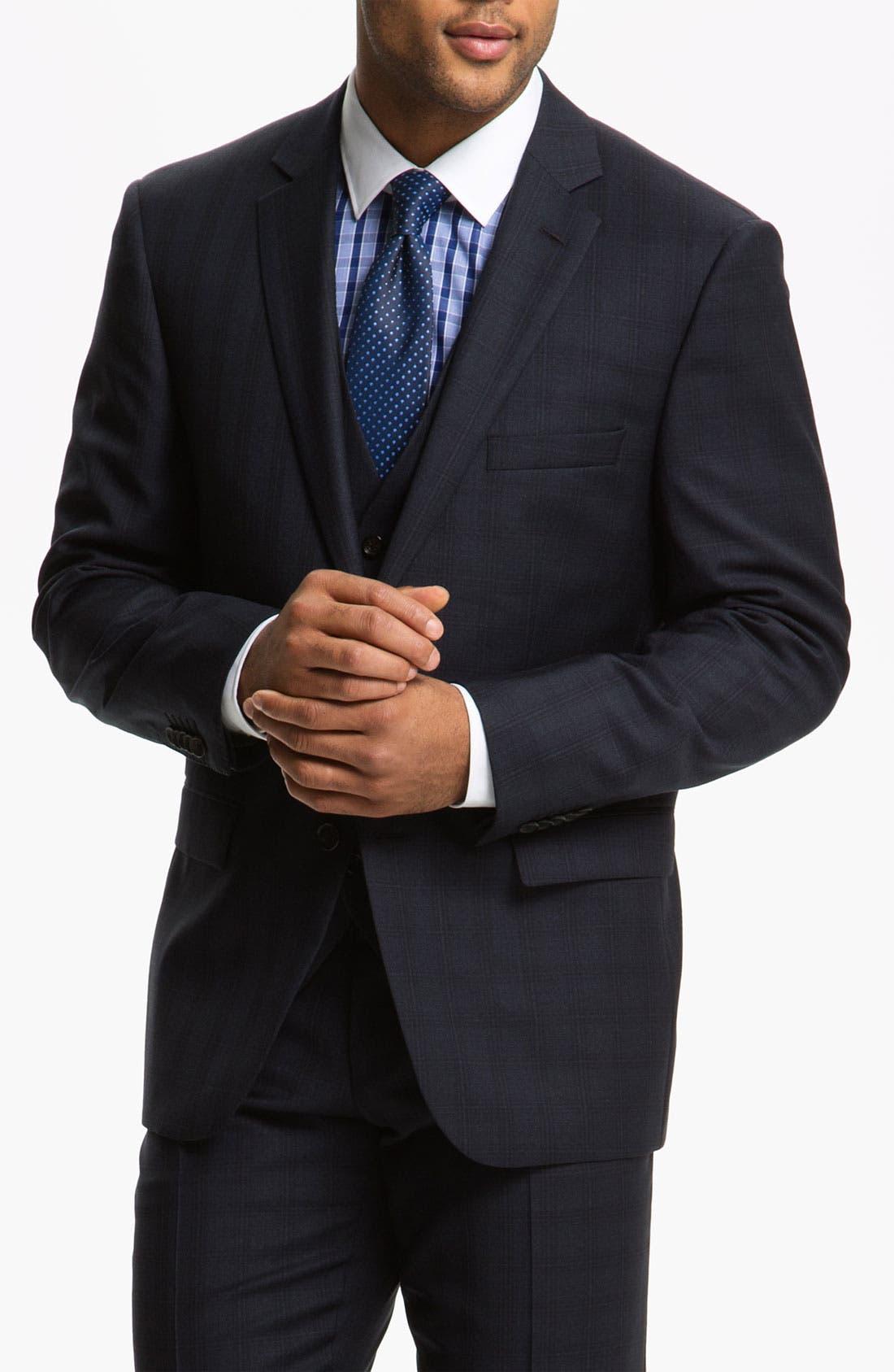 Alternate Image 1 Selected - BOSS Selection Suit & BOSS Black Dress Shirt