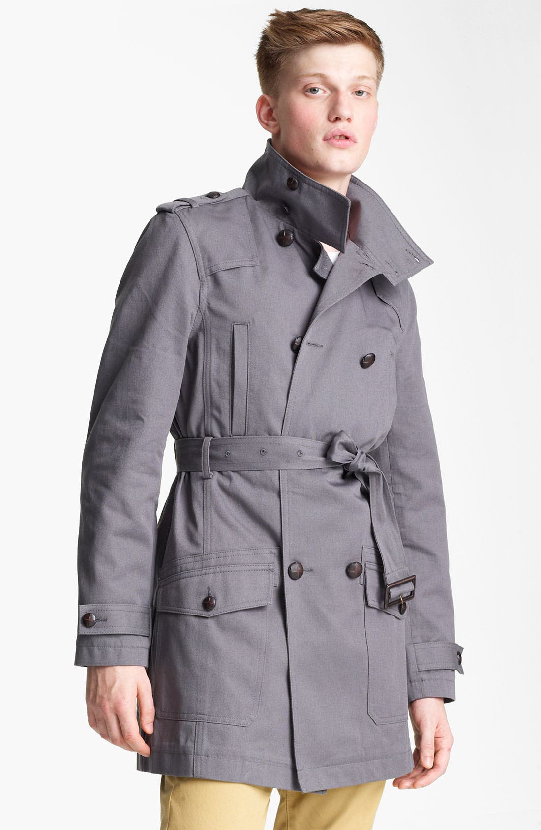 Main Image - Topman 'Kennington' Full Length Jacket