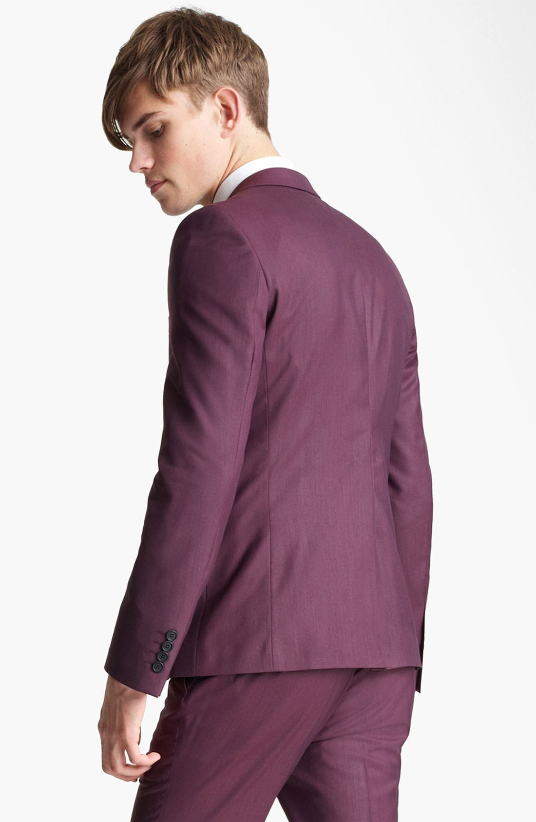 Alternate Image 2  - Topman 'Liquid' Skinny Blazer