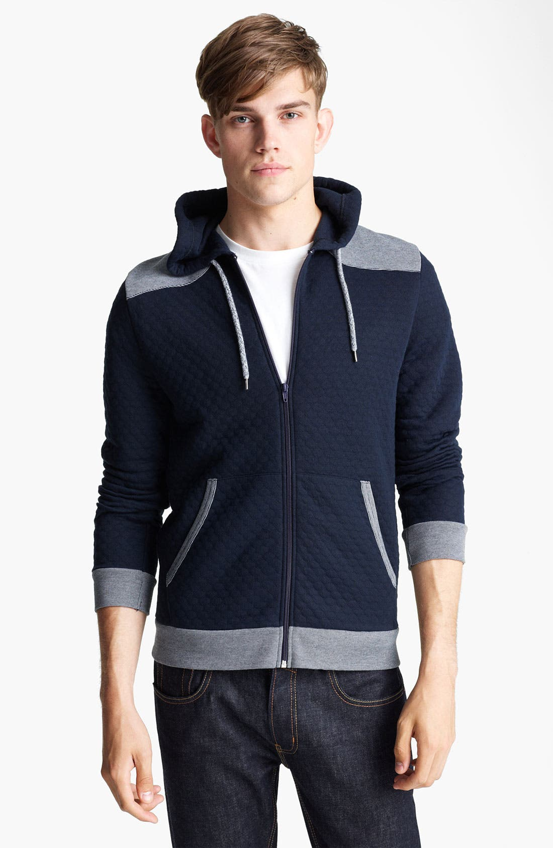 Alternate Image 1 Selected - Topman Quilted Hoodie