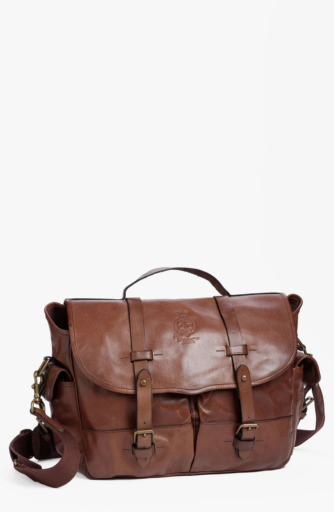 Alternate Image 1 Selected - Polo Ralph Lauren Leather Briefcase