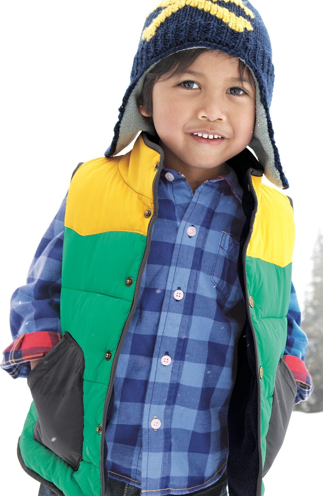 Alternate Image 2  - Mini Boden Colorblock Vest (Toddler)