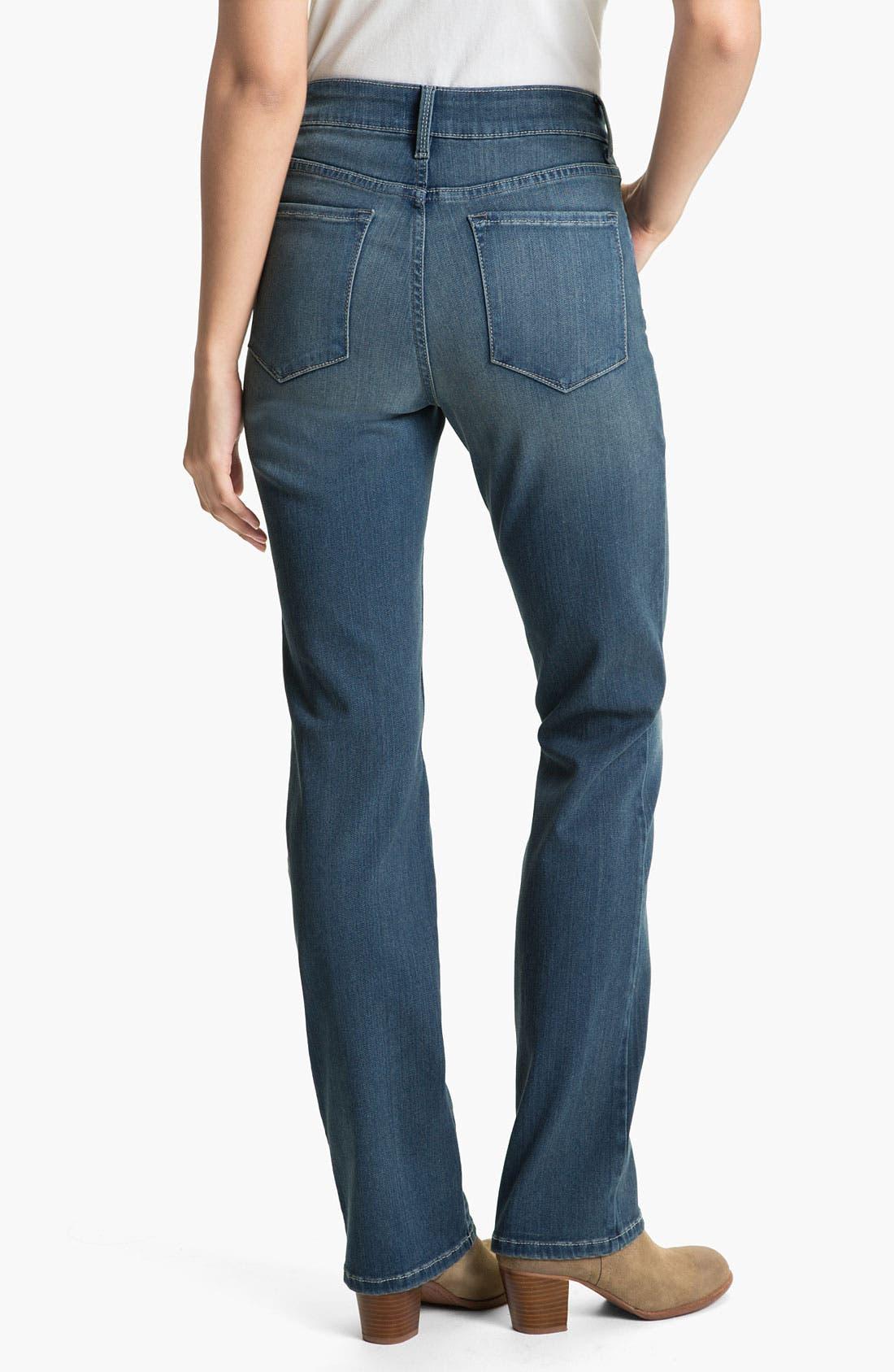 Alternate Image 2  - NYDJ Straight Leg Stretch Jeans (Petite)