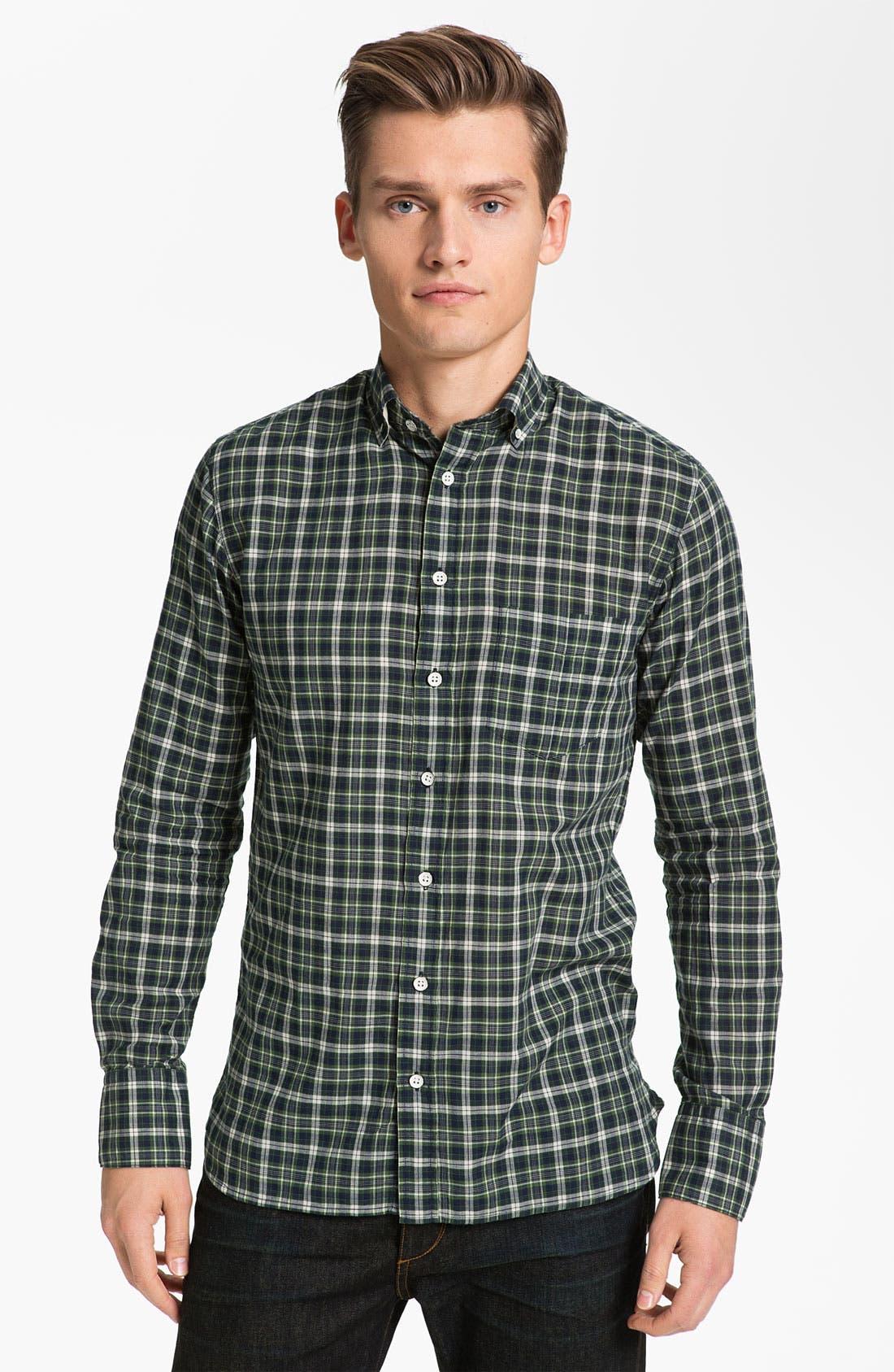 Alternate Image 1 Selected - rag & bone Plaid Oxford Shirt