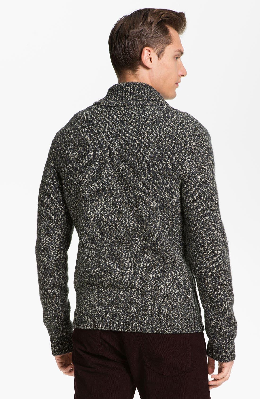 Alternate Image 2  - rag & bone 'Buxton' Shawl Collar Sweater