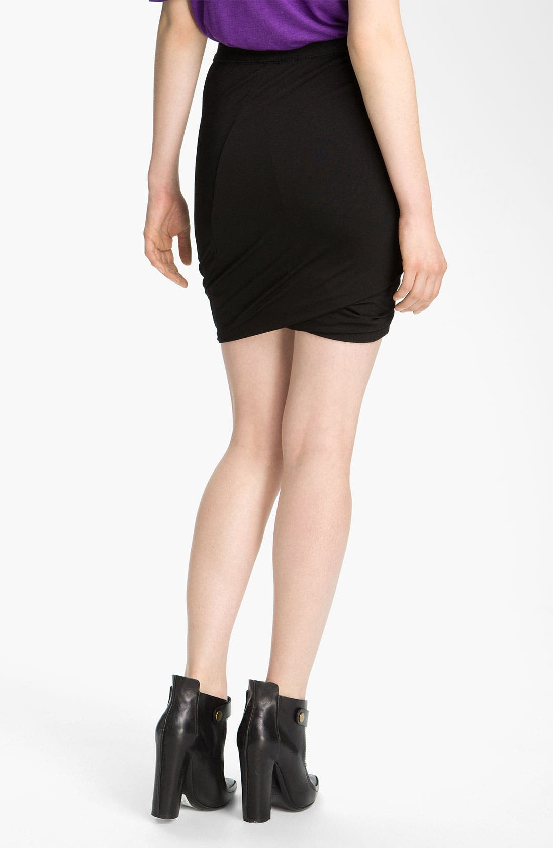 Main Image - T by Alexander Wang Drape Jersey Skirt