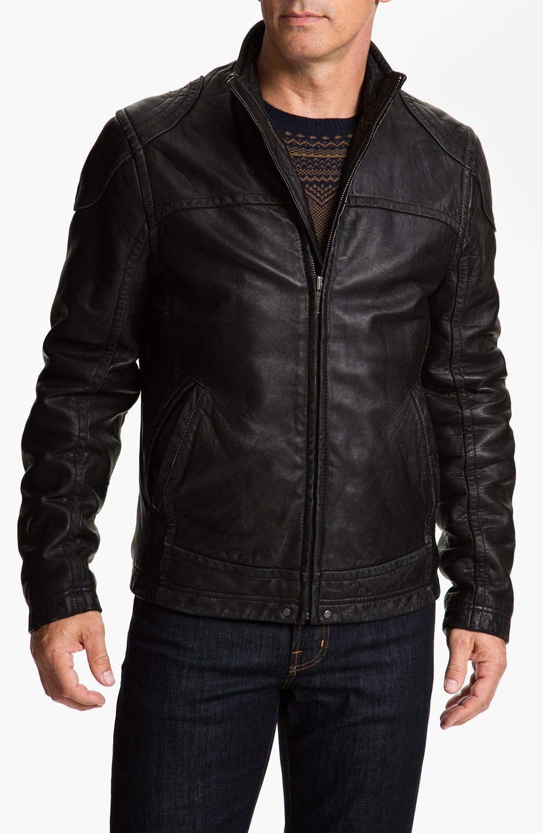 Alternate Image 1  - UGG® Australia 'Garrapata' Leather Jacket