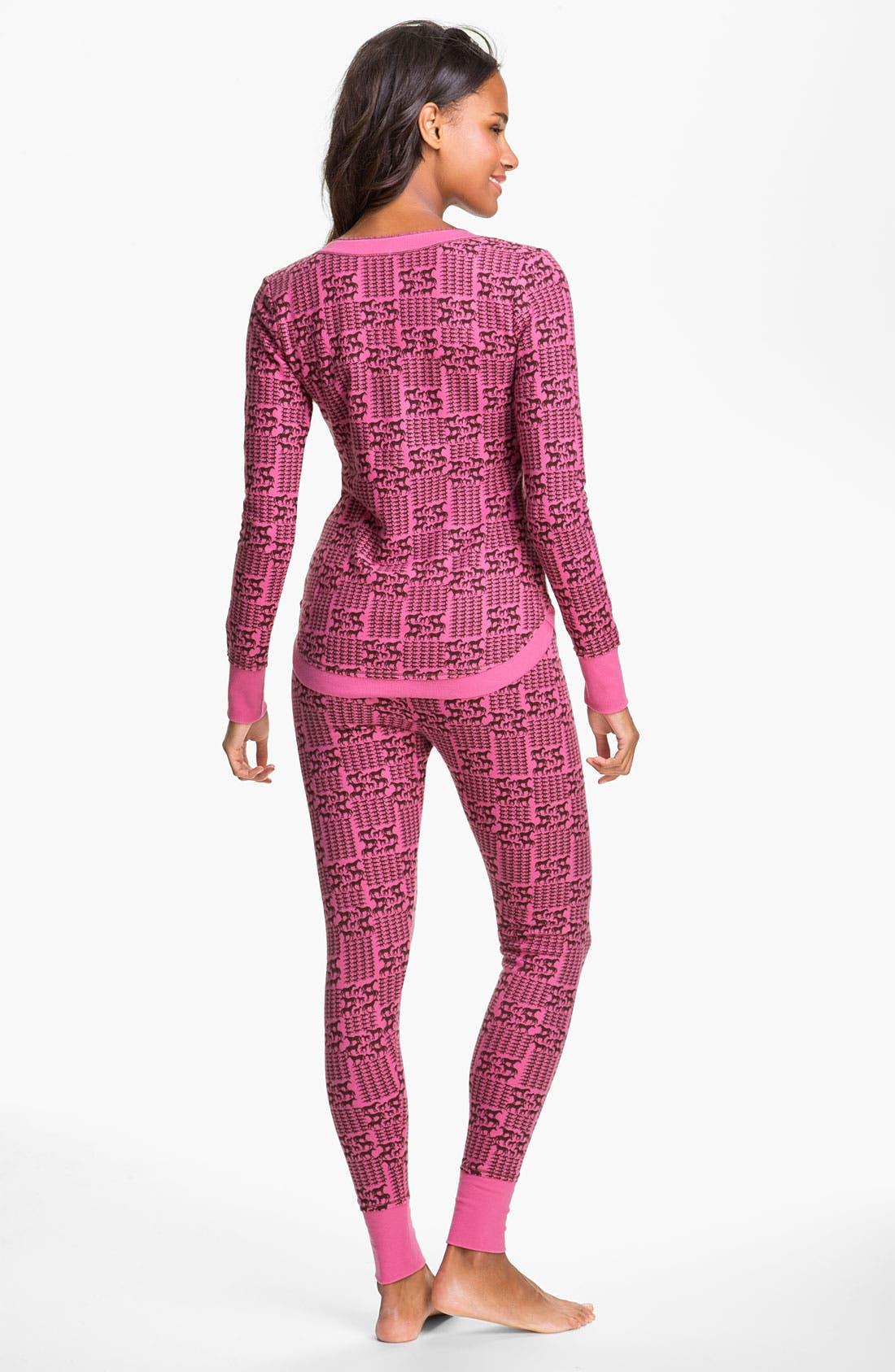 Alternate Image 2  - Kensie 'Quite the Character' Thermal Pajamas