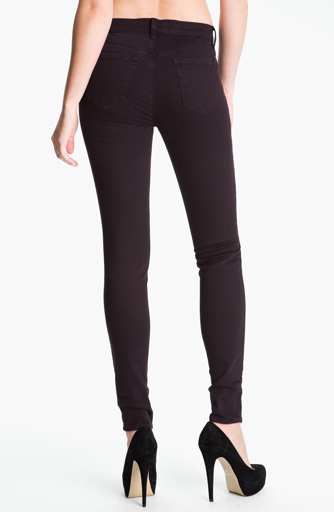 Alternate Image 2  - J Brand Overdyed Super Skinny Jeans