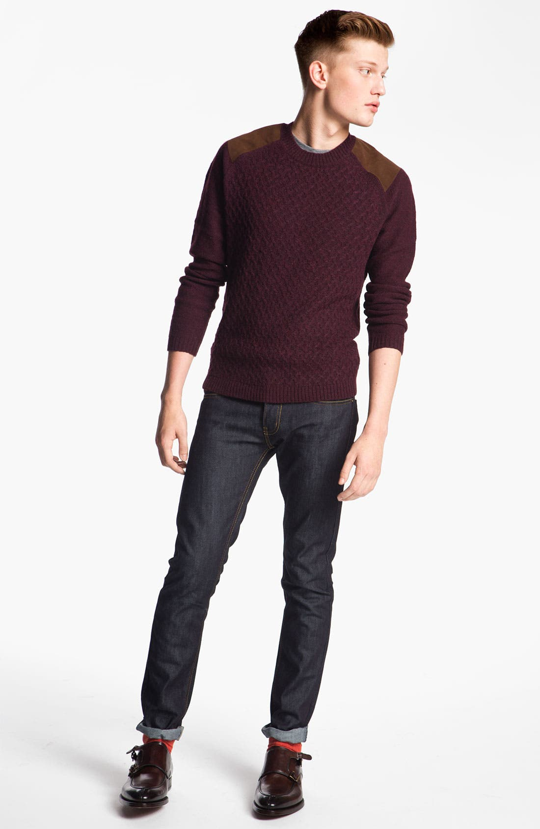 Alternate Image 5  - Topman 'Flynn' Skinny Jeans (Indigo)