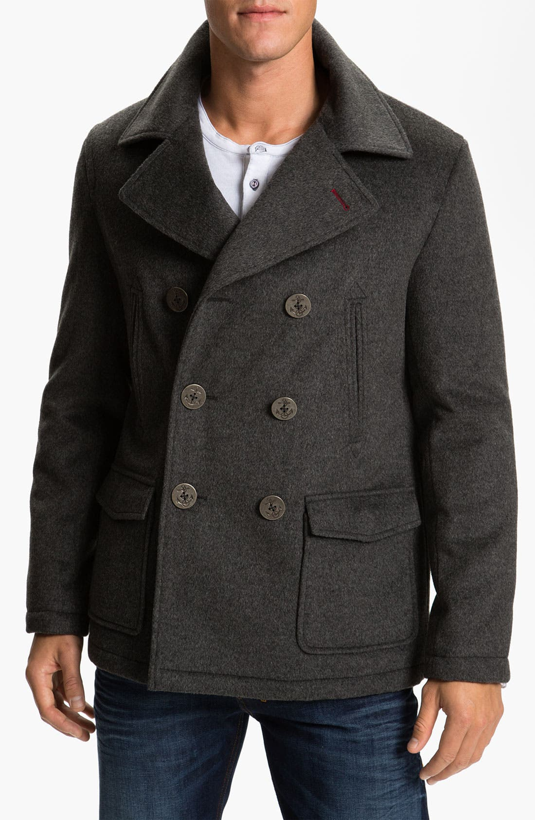 Alternate Image 1 Selected - 1901 Wool Blend Peacoat