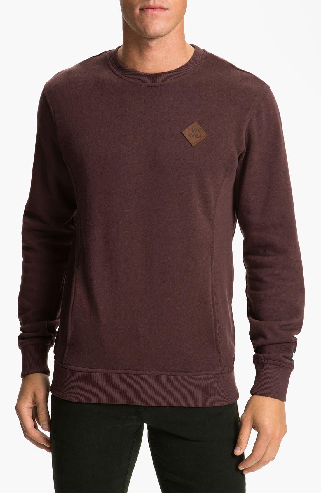 Main Image - RVCA 'Delux' Crewneck Sweatshirt