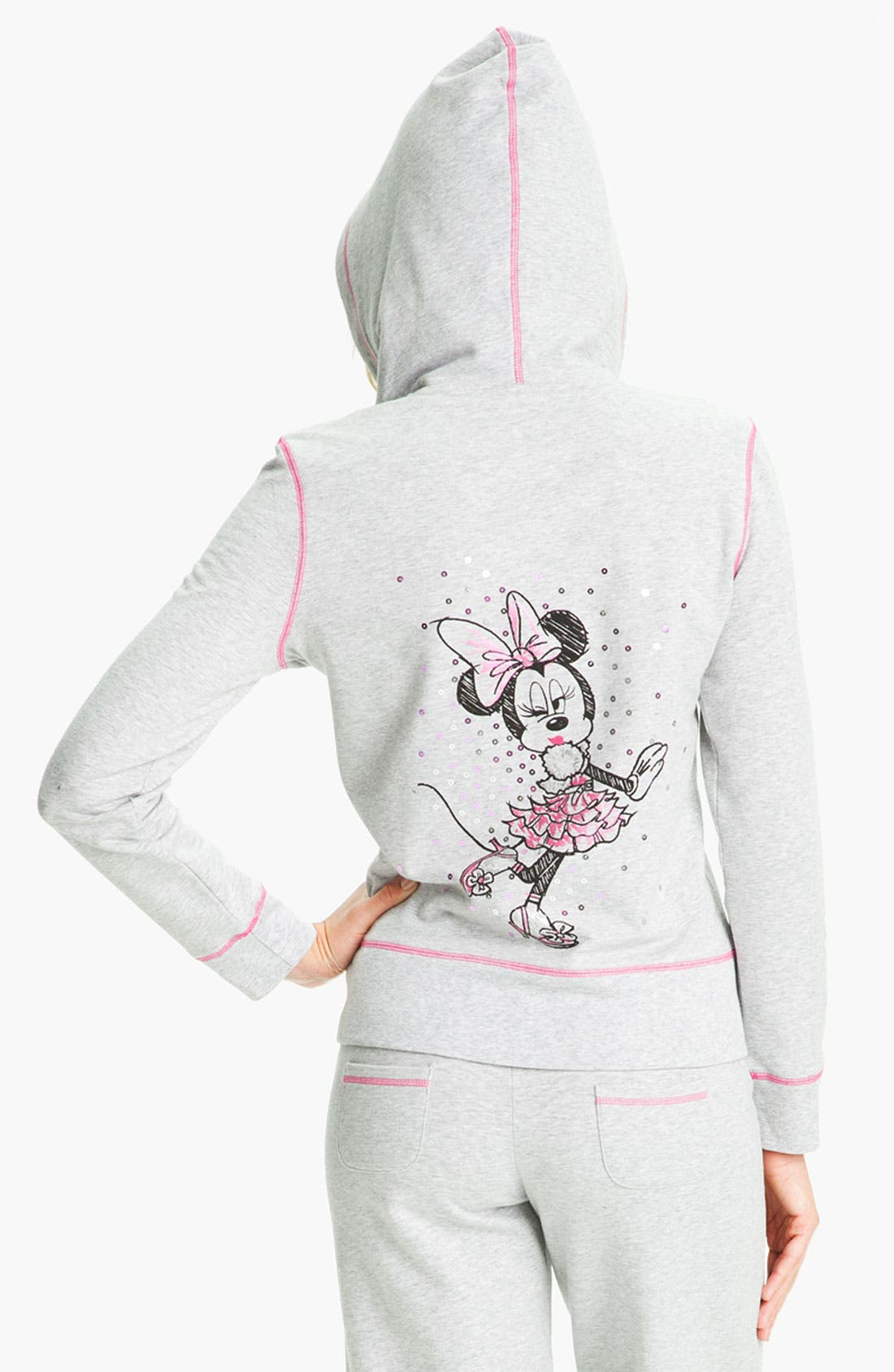 Alternate Image 2  - Betsey Johnson 'Minnie' Fleece Hoodie