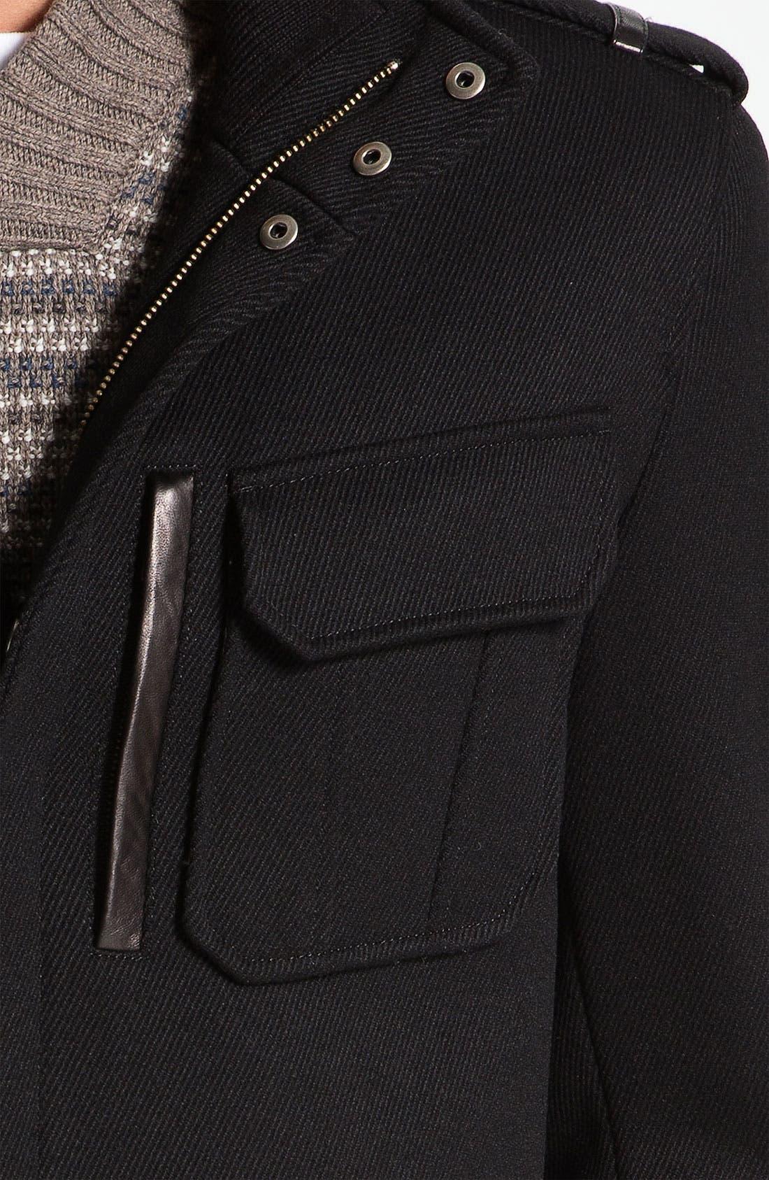 Alternate Image 3  - Cole Haan Twill Military Jacket