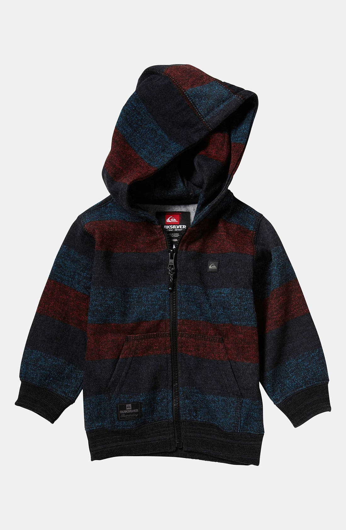 Alternate Image 1 Selected - Quiksilver 'Redondo' Stripe Hoodie (Infant)