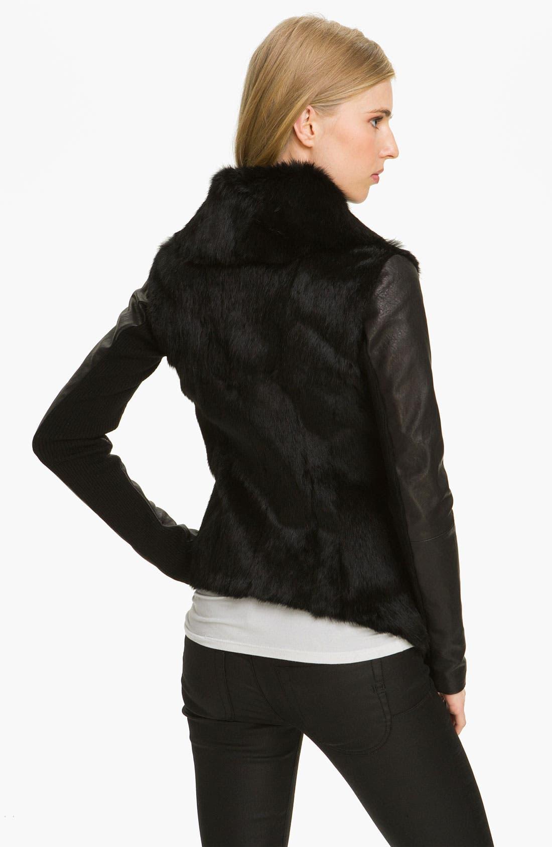 Alternate Image 2  - Veda 'Stella' Genuine Rabbit Fur Jacket