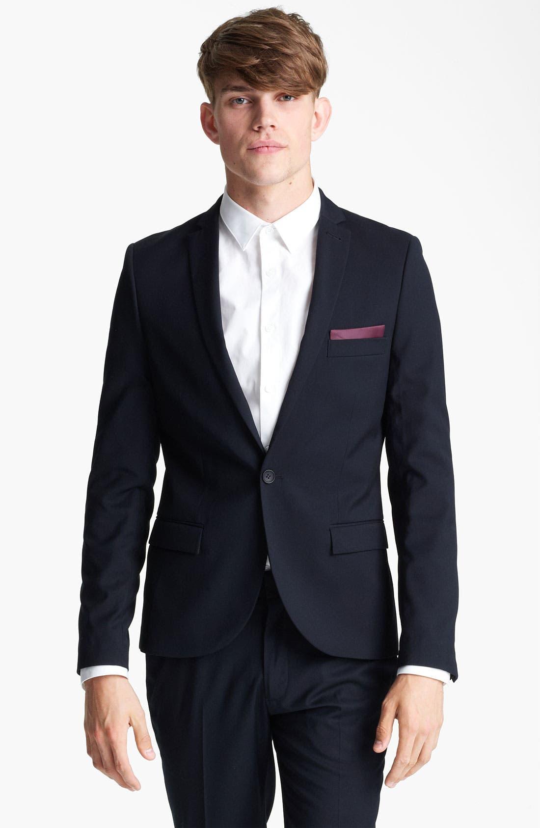 Alternate Image 1 Selected - Topman Skinny Blazer