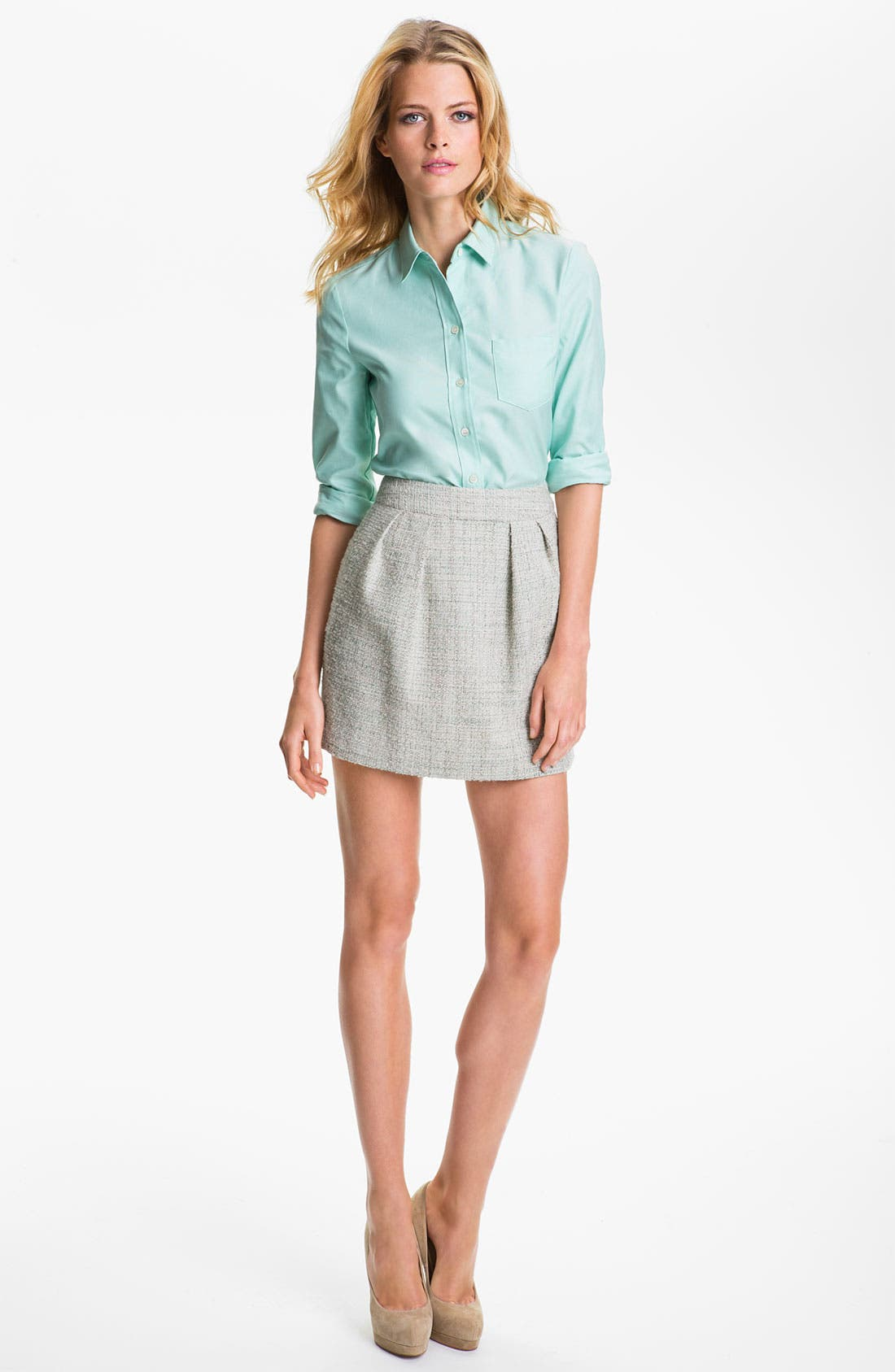 Alternate Image 3  - Theory 'Chablis' Tweed Miniskirt (Online Exclusive)