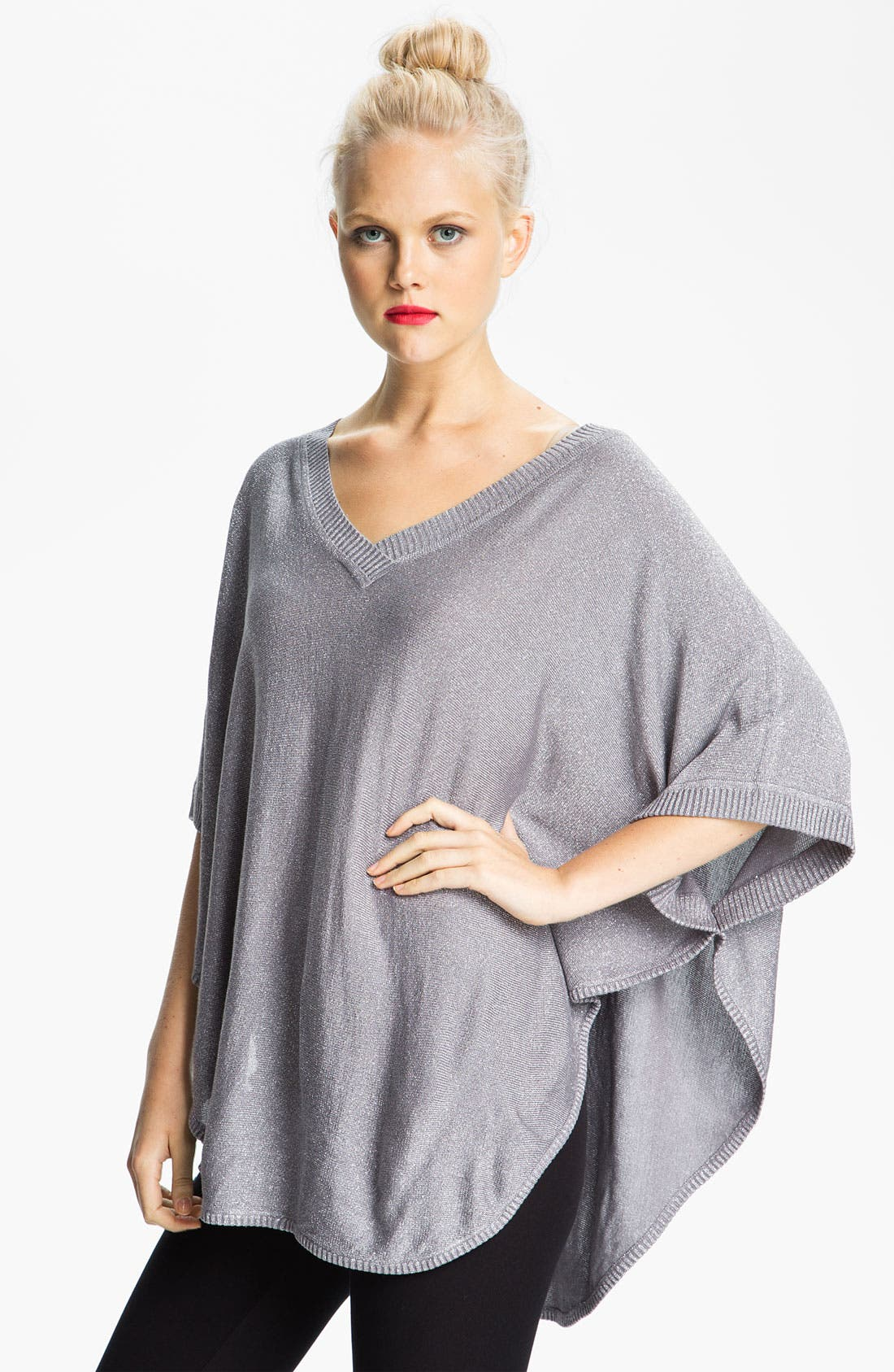 Alternate Image 1 Selected - Brazen Flat Knit Poncho