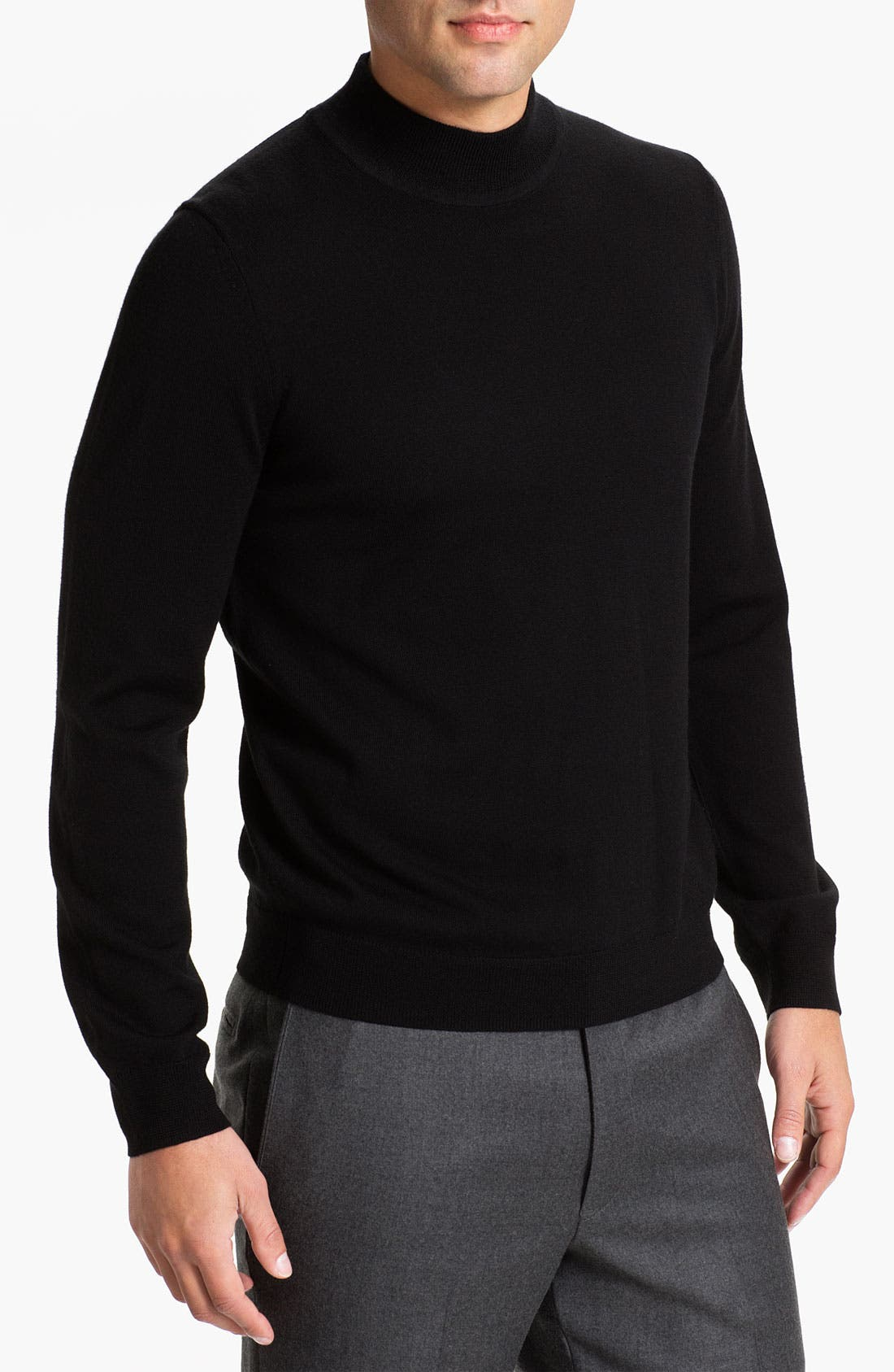 Main Image - Nordstrom Mock Neck Merino Wool Sweater