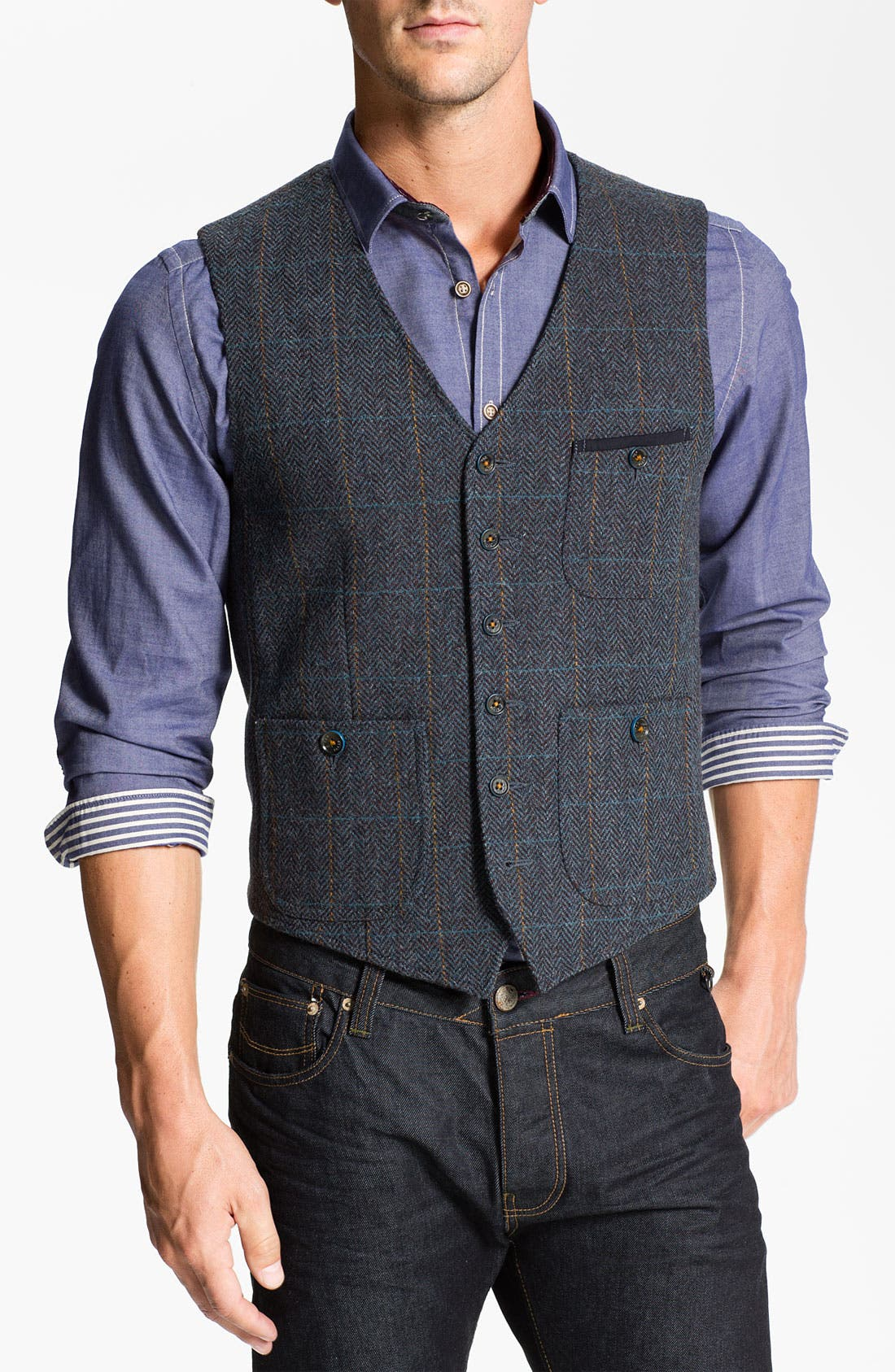 Alternate Image 1 Selected - Ted Baker London 'Rythwai' Wool Waistcoat