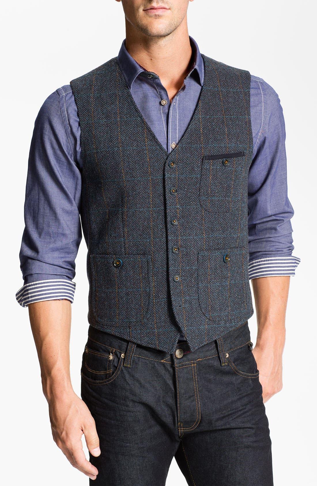 Main Image - Ted Baker London 'Rythwai' Wool Waistcoat